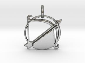 Astrology Zodiac Sagittarius Sign  in Natural Silver