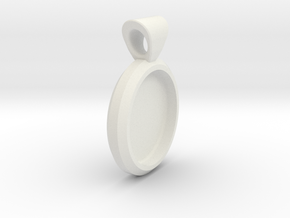 Pendant Base Round in White Strong & Flexible