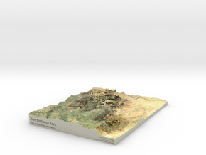 Zion National Park Map in Coated Full Color Sandstone