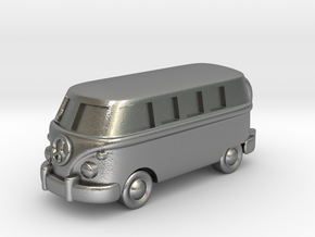 VW Van Charm & Keychain in Natural Silver