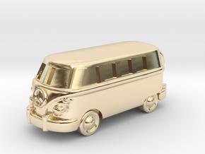VW Van Charm & Keychain in 14k Gold Plated Brass