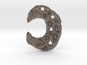 Wizard Moon 1 by Gabrielle in Polished Bronzed Silver Steel