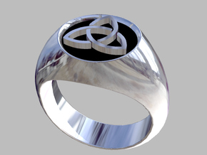 Trinity ring size 7 in Natural Silver