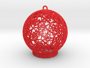 Thelema Ornament in Red Processed Versatile Plastic