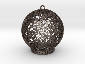 Thelema Ornament in Polished Bronzed Silver Steel