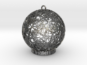 Thelema Ornament in Polished Silver