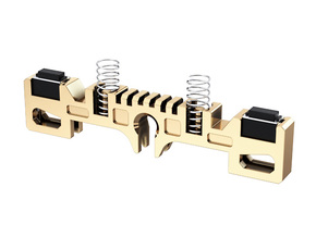 GRFLX 2.0/2.1/2.5 Clamp Sw Holder without suspensi in Polished Brass