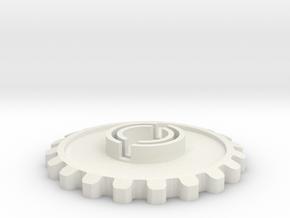 Tie Pilot Chest Box Gear Cog in White Natural Versatile Plastic
