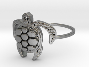 Sea Turtle Ring in Raw Silver: 7 / 54