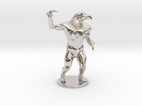 Hook Horror Miniature in Rhodium Plated Brass: 1:60.96