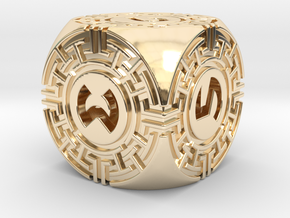 Daedalus D6 in 14k Gold Plated Brass