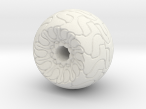 Ornamented Eyeball in White Natural Versatile Plastic
