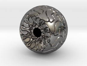 Ornamented Eyeball in Polished Nickel Steel