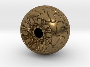 Ornamented Eyeball in Natural Bronze