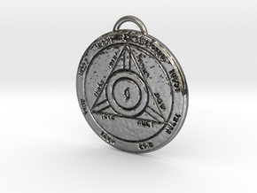Fourth Pentacle of Saturn in Fine Detail Polished Silver