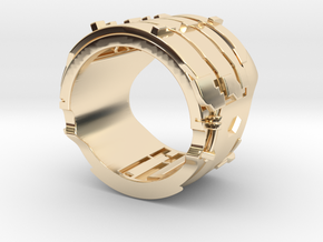 Dead Space Engineering Suit lvl3 ring - 18mm in 14K Yellow Gold