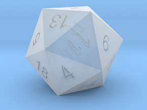 Classic d20 in Smooth Fine Detail Plastic