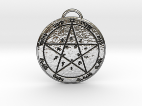 Second Pentacle of Venus in Fine Detail Polished Silver