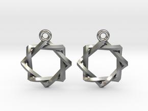 Penrose Melchizedek Symbol Earrings in Natural Silver