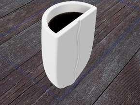 Coffe Bean Espresso Cup in Gloss White Porcelain