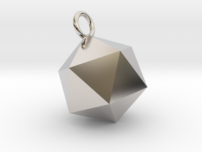 An Icosahedron Earring in Platinum