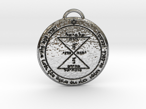 Third Pentacle of Venus in Fine Detail Polished Silver