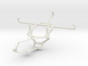 Controller mount for Steam & Posh Optima LTE L530  in White Natural Versatile Plastic