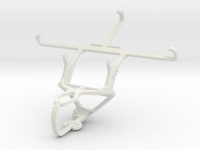 Controller mount for PS3 & QMobile Linq L10 in White Natural Versatile Plastic