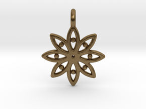 A Flower C Earring in Natural Bronze