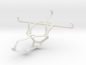 Controller mount for Steam & QMobile Noir X550 - F in White Natural Versatile Plastic