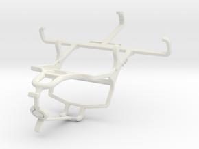 Controller mount for PS4 & QMobile T50 Bolt in White Natural Versatile Plastic