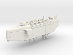 Last Exile. Anatoray Battleship in White Natural Versatile Plastic