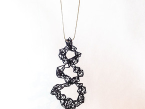Pendant_top_spiral_Kak in Black Natural Versatile Plastic
