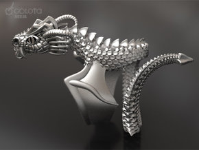 Flying crary Dragon ring in Raw Silver: 9 / 59