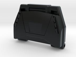 Lambo Chest Plate in Black Hi-Def Acrylate: Small