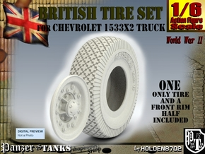1-6 Chevy LRDG Tire in White Natural Versatile Plastic