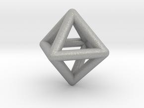 0595 Octahedron E (a=10mm) #001 in Aluminum