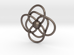 CircleLoops in Polished Bronzed Silver Steel