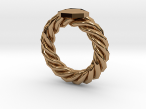 Bodacious Ring in Polished Brass