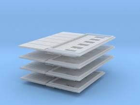 200-H0030: Set Of 4 Jet Blast Deflectors 1:200 in Smoothest Fine Detail Plastic