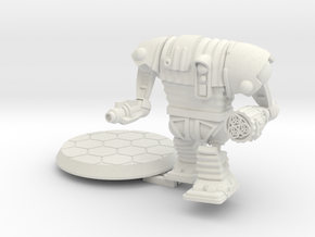 28mm/32mm Corig-8 droid with Guns in White Natural Versatile Plastic