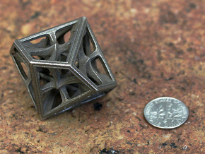 Decahedron in Polished Bronzed Silver Steel: Medium