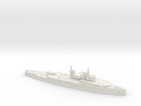Normandie 1/2400 (No Main Turrets) in White Natural Versatile Plastic