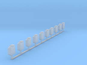 1:87 jerry can Kanister Bund set 10 in Smooth Fine Detail Plastic