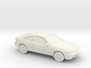 1/43 1998 Chevrolet Cavalier Coupe in White Natural Versatile Plastic