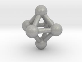 0597 Octahedron V&E (a=10mm) #003 in Aluminum