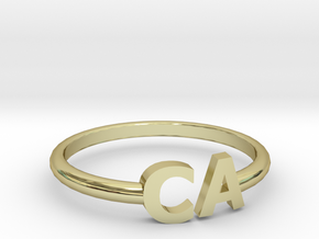 CA ring size 6.5 in 18k Gold Plated