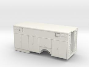 1/87 Heavy Rescue Single Axle non-rollup doors in White Natural Versatile Plastic