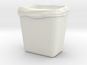 Printle Thing Dustbin 01 - 1/24 in White Natural Versatile Plastic