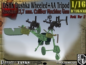 1-16 DSHK Dushka Wheeled + AA Tripod in Smooth Fine Detail Plastic
